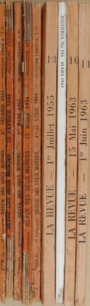 """VAUDOYER - """" La Revue Littérature, Histoire, Arts et Sciences des deux mondes """" - Lot de périodiques - 1er juin 1963 - Paris  (7)"""