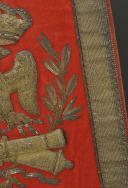 Photo 8 : SABRETACHE DE GRANDE TENUE DU CHEF D'ESCADRON FÉLIX AIMÉ LASNON DU RÉGIMENT D'ARTILLERIE À CHEVAL DE LA GARDE IMPÉRIALE, PREMIER EMPIRE (1813-1814).