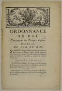 ORDONNANCE DU ROI, concernant les Troupes légères. Du 1er mars 1763. 22 pages (1)