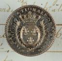 BOUTON DE LA GARDE NATIONALE DE FRANCE, MODÈLE 1789-1792, RÉVOLUTION. (1)