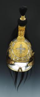 CASQUE DE MOUSQUETAIRE GRIS (1ère compagnie) DE LA MAISON MILITAIRE DU ROI, modèle 1814, RESTAURATION.