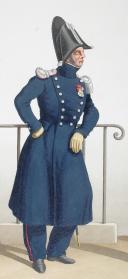 Photo 2 : 1830. Garde Royale. Fusiliers Sédentaires. Officier, Tambour, Sergent-Fourrier.
