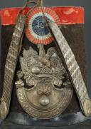 SHAKO DE SOUS-OFFICIER DE GRENADIER DE LA GARDE NATIONALE, TYPE 1830, MONARCHIE DE JUILLET. (2)