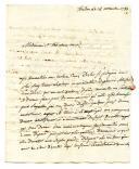 Photo 4 : ENSEMBLE D'UNE VINGTAINE DE LETTRES DU MARIN DE SERRE À SA MÈRE et documents divers, 1779-1792.
