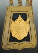 SABRETACHE DE GRANDE TENUE DE COLONEL DES GUIDES DE LA GARDE IMPÉRIALE, SECOND EMPIRE. (1)