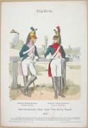 "R. KNÔTEL -  "" Italien - Das Italienische Heer unter Vize-König Eugen 1812 "" - Gravure - n° 42"
