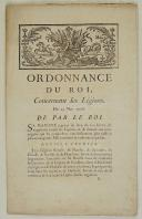 Photo 1 : ORDONNANCE DU ROI, concernant les Légions. Du 25 mars 1776. 12 pages