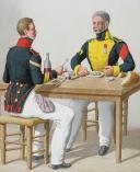 Photo 1 : 1822. Brigadier-Fourrier (3e Régiment - de la Garonne), Maréchal-Ferrant (9e Régiment - de la Saône).