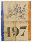 Photo 1 : CONSCRIPTION IMPÉRIALE : BILLET DE TIRAGE AU SORT N° 197, SECOND EMPIRE.