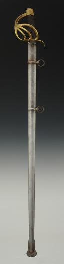 Photo 2 : REPRODUCTION XXème SIÈCLE D'UN SABRE DE CAVALERIE LOURDE, PREMIER EMPIRE.