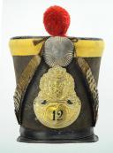 Photo 1 : SHAKO MODÈLE 1825 DU 12ème RÉGIMENT D'INFANTERIE DE LIGNE, RESTAURATION.