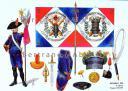 RIGO (ALBERT RIGONDAUD) : LE PLUMET PLANCHE 226 : ARTILLERIE A PIED 8e REGIMENT DRAPEAUX 1803-1804.