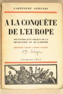 GERVAIS. (Capt.). A la conquête de l'Europe.   (1)