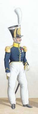 Photo 2 : 1828. Infanterie Légère. Capitaine, Adjudant-Major, Adjudant Sous Officier