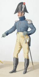 Photo 2 : 1816. Train d'Artillerie. Brigadier, Lieutenant.
