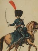 Photo 2 : MARTINET : Troupes françaises, planche 189, officier du 2ème Régiment de Chasseurs à cheval, Premier Empire.