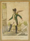 CARICATURE DE L'EMPEREUR NAPOLÉON Ier : Gravure, Premier Empire.