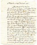 LETTRE DU CAPORAL B. CATEAU (?) capitaine au 1er bataillon du 92ème régiment de ligne, À SON BEAU-FRÈRE, le 29 novembre 1806.