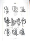 SABRES « PETIT MONTMORENCY » DE LA FIN DE LA MONARCHIE 1786-1792 ; planche 1, TOME X, 4e fascicule 1968.