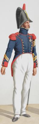 1817. Garde Royale. Artillerie à Pied. Sergent, Officier. (2)