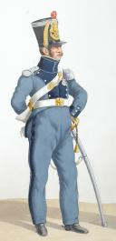 Photo 2 : 1820. Train d'Artillerie. Capitaine, Soldat.