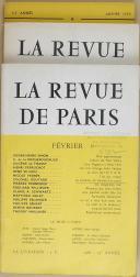 """THIÉBAUT - """" La Revue de Paris """" - Lot de Périodiques - 54ème année à la 73ème - Paris - (1947-1966) (3)"""