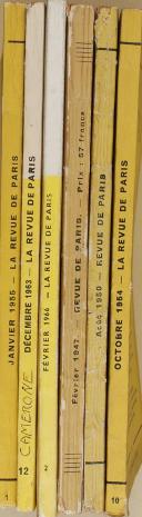 """THIÉBAUT - """" La Revue de Paris """" - Lot de Périodiques - 54ème année à la 73ème - Paris - (1947-1966) (4)"""
