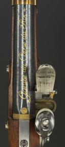Photo 5 : PAIRE DE PISTOLETS DES GARDES DU CORPS DE LA MAISON MILITAIRE DU ROI, premier modèle, 1814-1816, PREMIÈRE RESTAURATION.