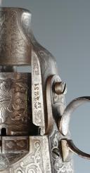 Photo 6 : REVOLVER LEFAUCHEUX D'OFFICIER, 12 mm, MODÈLE 1858, PAR DUVAL, SECOND EMPIRE.
