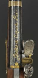 Photo 6 : PAIRE DE PISTOLETS DES GARDES DU CORPS DE LA MAISON MILITAIRE DU ROI, premier modèle, 1814-1816, PREMIÈRE RESTAURATION.