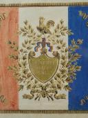 Photo 6 : DRAPEAU DE GARDE NATIONALE, Monarchie de Juillet, Feuillet publicitaire d'époque.
