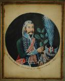 LIEUTENANT JEAN-BAPTISTE DUCHESNE DU 16ème CHASSEURS À CHEVAL : Portrait miniature sur papier, 1803, Consulat.