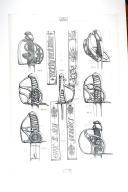 SABRES PETITS MONTMORENCY DE LA FIN DE LA MONARCHIE 1786-1792; planche 2, TOME X, 4e fascicule 1968.