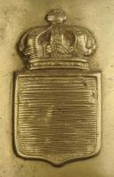 Photo 2 : PLAQUE DE CEINTURON DE LA CAVALERIE DE LA GARDE ROYALE, MODÈLE 1816, RESTAURATION MODIFIÉE LORS DE LA RÉVOLUTION DE 1830.