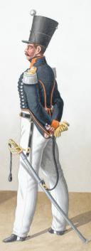 Photo 2 : 1830. Chasseurs à Cheval. 16e Régiment. Chasseurs. Capitaine Instructeur.