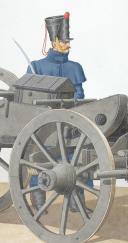 Photo 2 : 1822. Artillerie à Cheval, Obusier de 6 pouces.