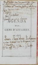 """Gl LOUIS BRO - """" Agenda des gens d'affaires ou Tablettes utiles et commodes """" - Paris - 1813 (3)"""