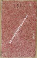 """Gl LOUIS BRO - """" Agenda des gens d'affaires ou Tablettes utiles et commodes """" - Paris - 1813 (4)"""