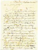 Alexandrie. LETTRE DE JOSEPH SECILLE, soldat au 4ème régiment d'artillerie à pied, 10ème compagnie, datée d'Alexandrie le 10 décembre 1806, À SON PÈRE demeurant à St Jean de Maurienne.