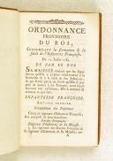 Ordonnance du Roi concernant la formation et la solde de l'infanterie française 12 JUILLET 1784 (veau)