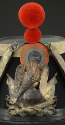 Photo 2 : SHAKO D'OFFICIER DE LA GARDE NATIONALE, modèle 1848, Seconde République.