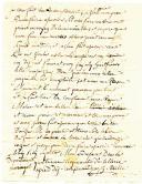 Photo 3 : Alexandrie. LETTRE DE JOSEPH SECILLE, soldat au 4ème régiment d'artillerie à pied, 10ème compagnie, datée d'Alexandrie le 10 décembre 1806, À SON PÈRE demeurant à St Jean de Maurienne.