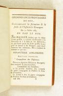 Photo 5 : Ordonnance du Roi concernant la formation et la solde de l'infanterie française 12 JUILLET 1784 (veau)