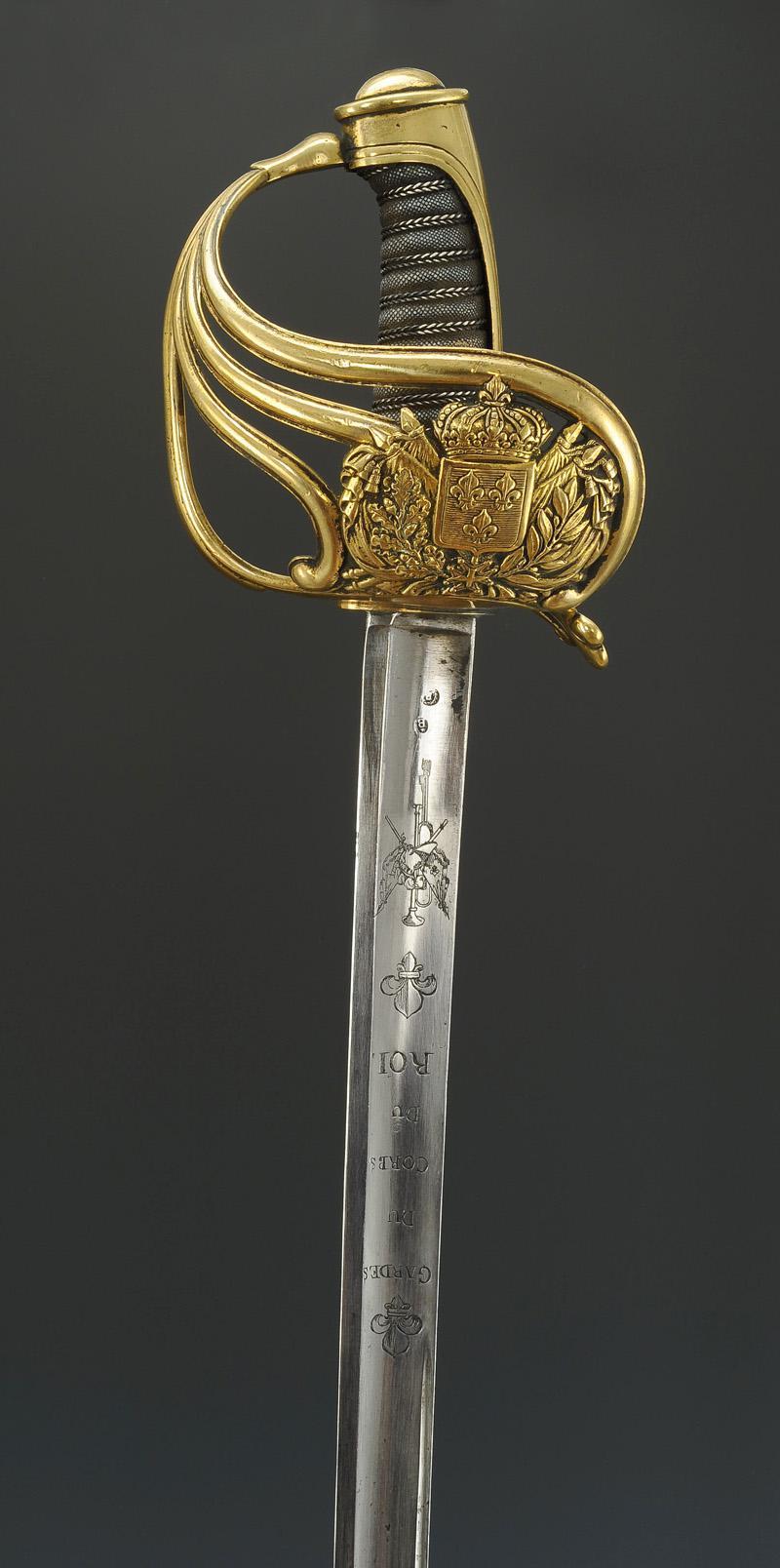 sabre des gardes du corps du roi  mod u00c8le 1816  restauration