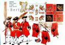 RIGO (ALBERT RIGONDAUD) : LE PLUMET PLANCHE AR33 : INFANTERIE REGIMENT IRLANDAIS DE DILLON DRAPEAUX 1734 -1748.