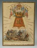 MEISSONIER ERNEST : AQUARELLE ORIGINALE POUR LA CRÉATION DE LA SABRETACHE, fin XIXème siècle.