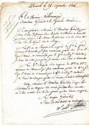 Photo 1 : LETTRE DE CRÉATION DE LA BRIGADE INFERNALE COMMANDÉE PAR LE GÉNÉRAL LASALLE, PREMIER EMPIRE.