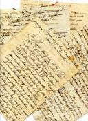 4 LETTRES DICTÉES ET SIGNÉES POUR LE SOLDAT ÉTIENNE TROUILLET À SA FEMME, CAMPAGNE DES PYRÉNÉES, 1794.