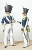 1830. Infanterie Légère. Tambour-Major, Chef de Musique (2)