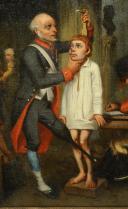 Photo 3 : LA RECRUE MILITAIRE : Huile sur toile, Seconde moitié du XIXè siècle.